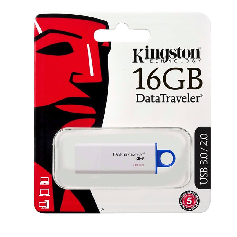 MEMORIA USB 16GB USB 3.0 DATA TRAVELER I G4 COLOR AZUL KINGSTON