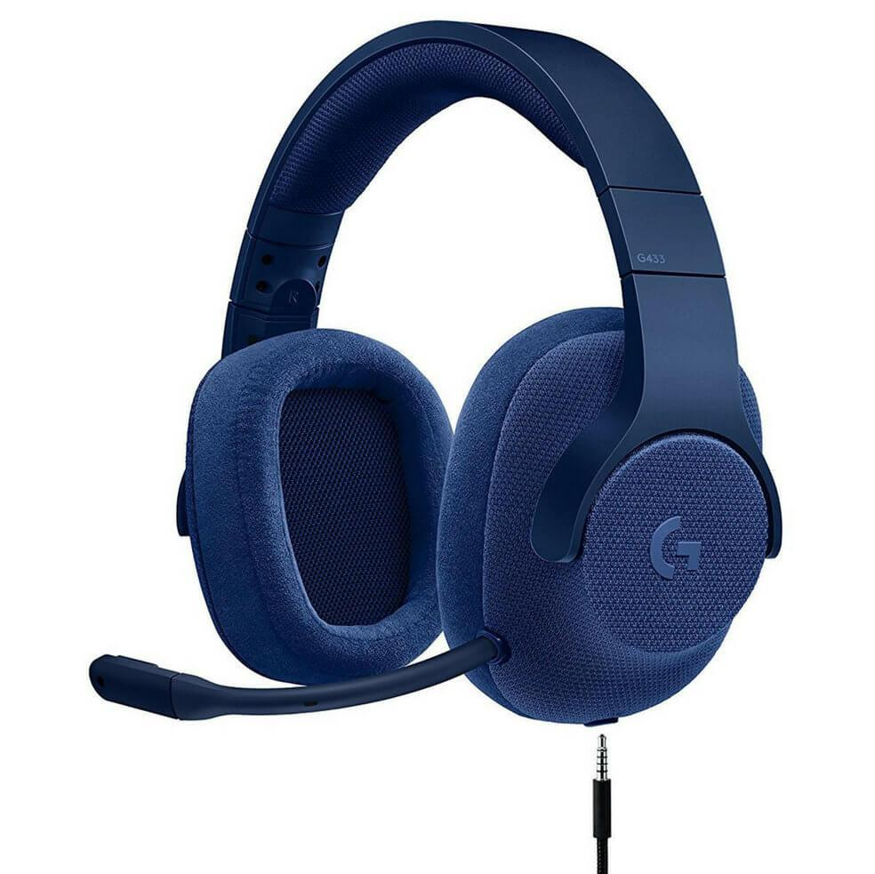 HEADSET GAMING G433 WIRED 7.1 SURROUND ROY AZUL LOGITECH