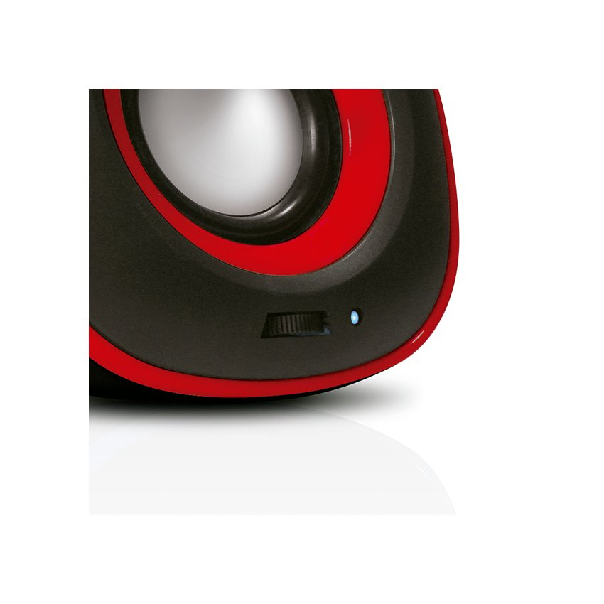 BOCINA XTECH XTS-115RD 2.0 6W USB 3.5MM COLOR ROJO
