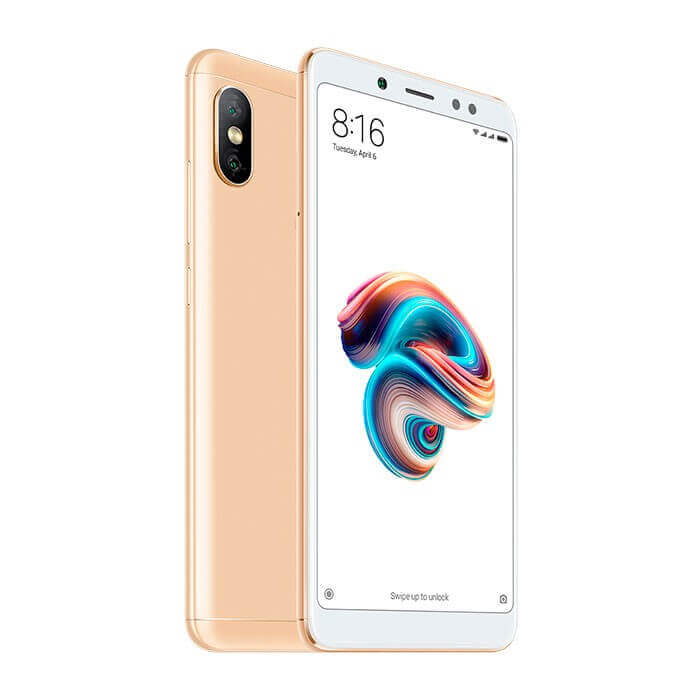 TELEFONO CELULAR INTELIGENTE REDMI NOTE 5 32GB COLOR DORADO XIAOMI