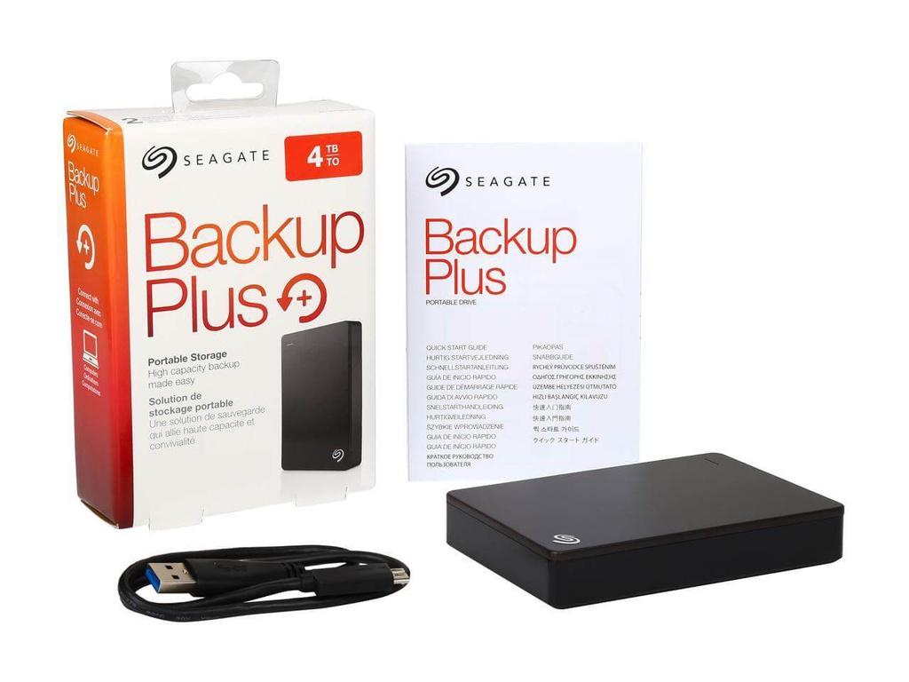 "DISCO EXTERNO STDR4000100 4TB USB 3.0 BACKUP PLUS 2.5"" COLOR NEGRO SEAGATE"