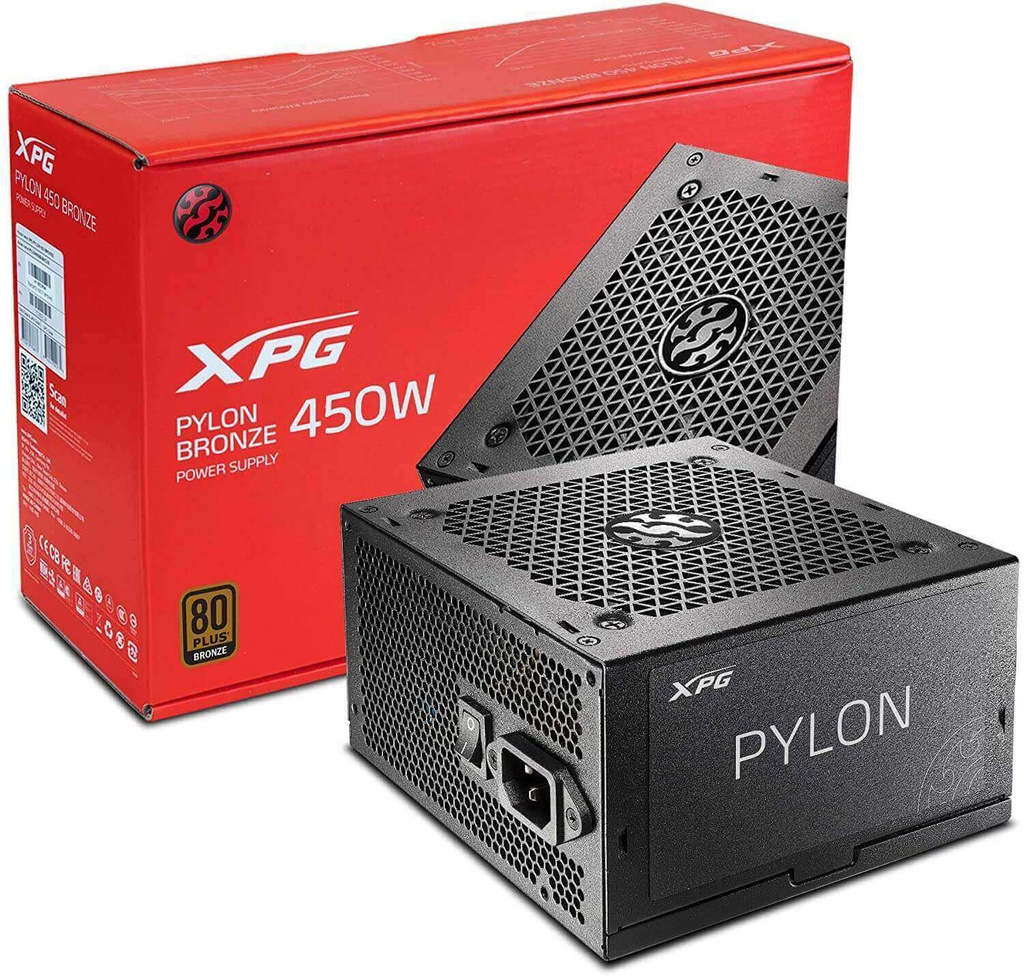 FUENTE DE PODER XPG PYLON 650W BRONZE INTEL V2.52 120MM