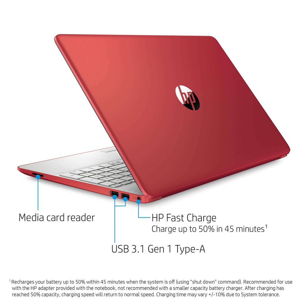 "LAPTOP HP 15-DW1083 PENTIUM GOLD 6405U 2.4GHZ 128GB SSD 4GB 15.6"" 1366X768 WIN10 COLOR SCARLET RED"