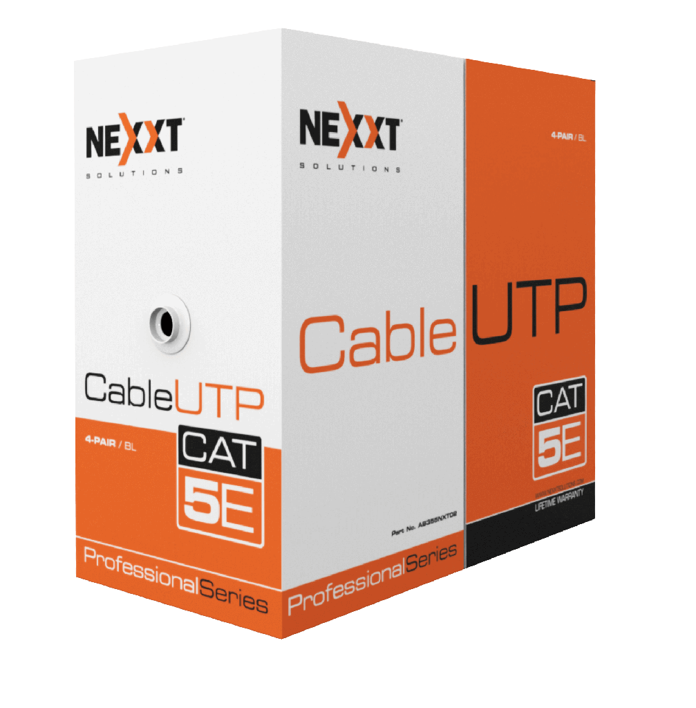 CABLE UTP CAT 5E 4 PARES COLOR GRIS METRO NEXXT