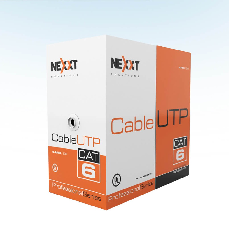CABLE UTP CAT 6 4 PARES COLOR AZUL METRO NEXXT