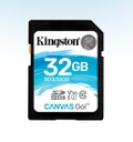 TARJETA SD 32GB SDHC CANVAS GO 90R/45W CL10 U3 V30 KINGSTON